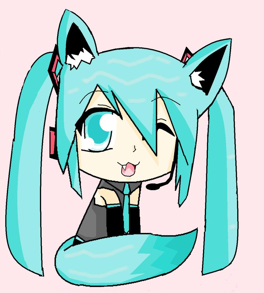 Hatsune Miku neko x3 by EpicAndStillClumsy on deviantART