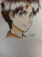 Eren Jaeger- Shingeki No Kyoujin by eyewannaknow
