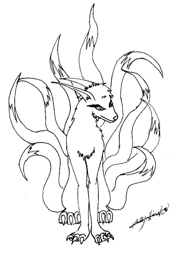 Naruto Nine Tailed Fox Cloak Coloring Pages Coloring Pages Nine Tailed Fox Coloring Pages
