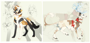 Wolf and Reindeer Auction CLOSED