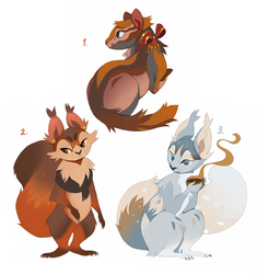 Squirrel Adoptables Flat Sale CLOSED