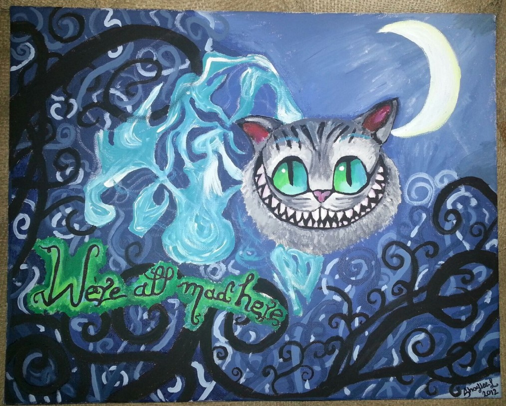 Cheshire Cat Painting by shybaby16 on DeviantArt