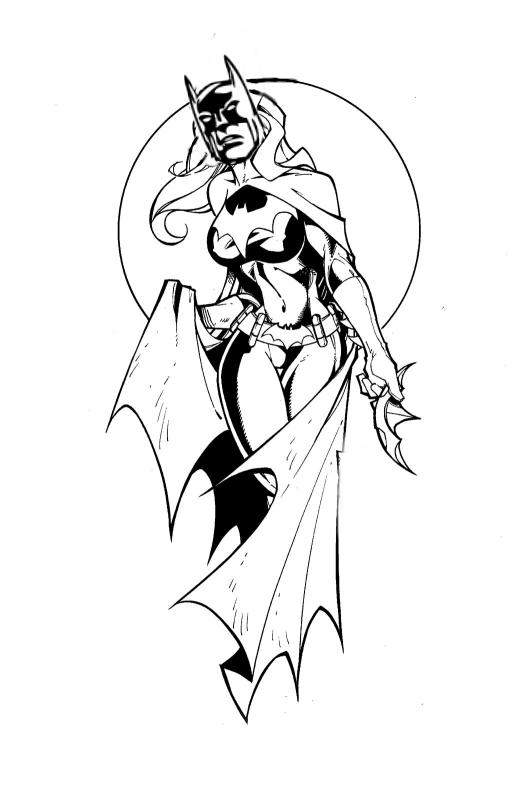 TG Batman Coloring Page By Redbankmick