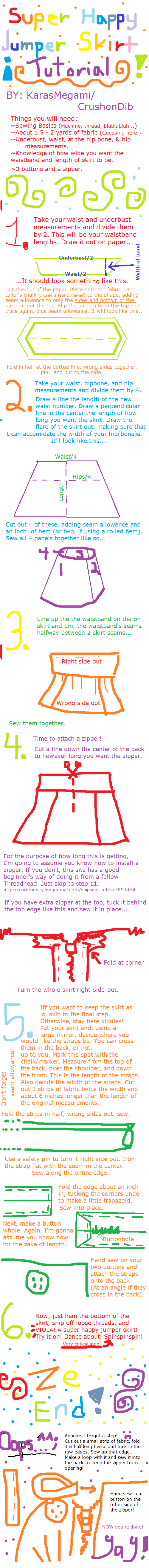 Happy Jumper Skirt Tutorial by CrushonDib