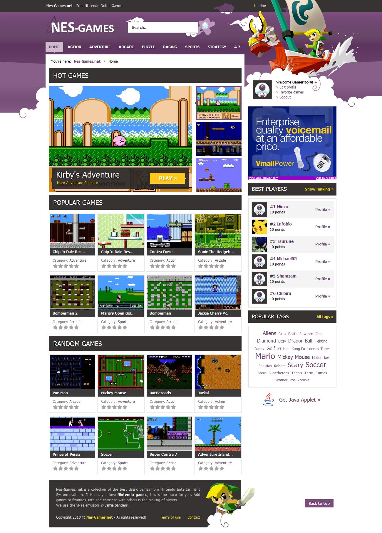 Nes-Games.net by kibus