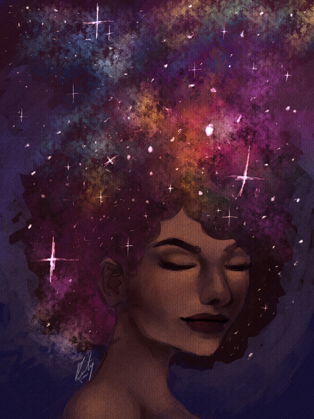 Space Afro By Tritron On Deviantart