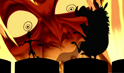Timon and Pumbaa's Reaction of Hades.
