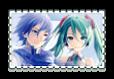 KAITO and Hatsune Miku Stamp~! by HikaruYukiHime