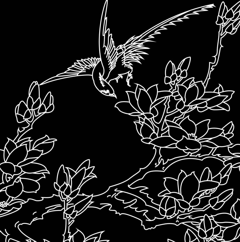 bird in the branches by dimasdwipramono