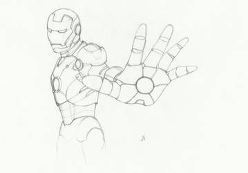 Iron Man sketch by AFealy