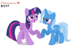REQUEST: Twilight Sparkle and Trixie as a Couple