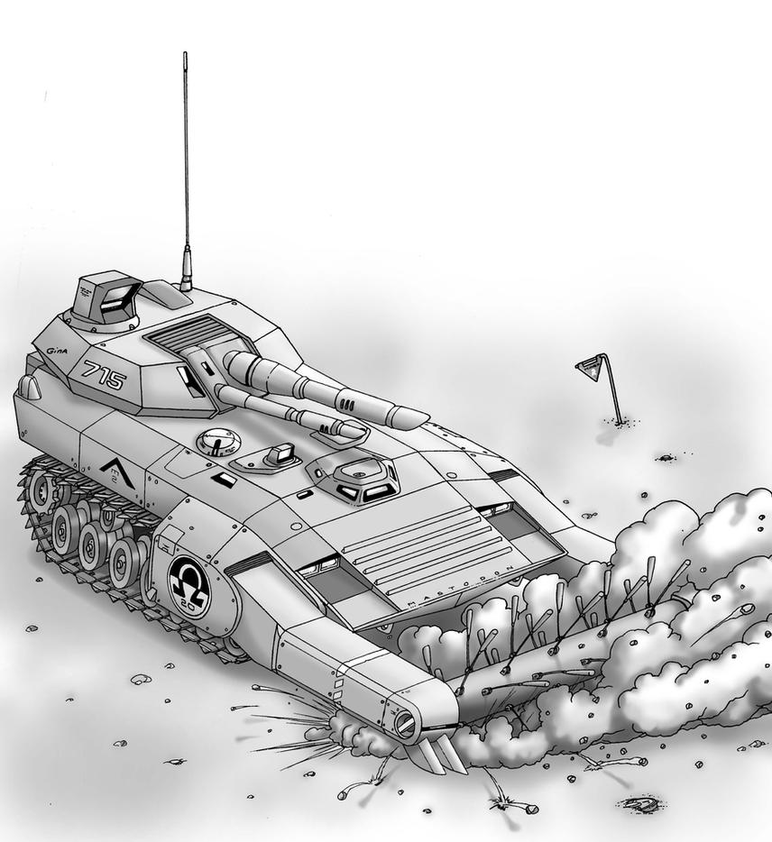 Mastodon Minesweeper Tank by Artraccoon
