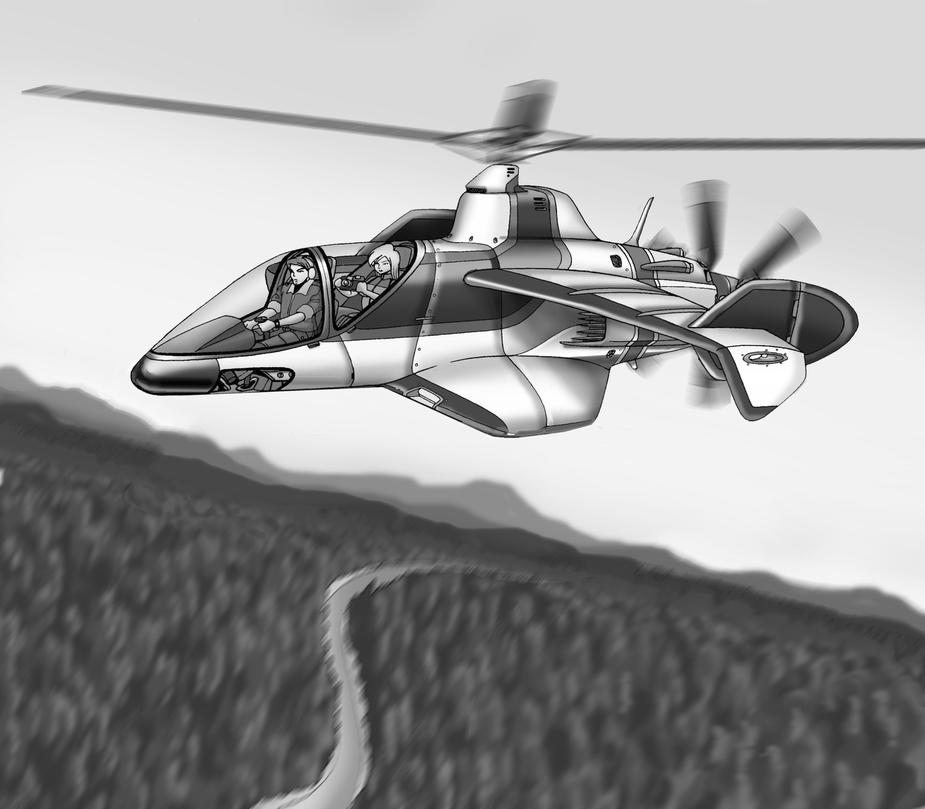 Dragonfly Autogyro by Artraccoon