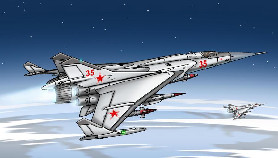 """MiG-45 """"Flashbar"""" Interceptor by Artraccoon"""