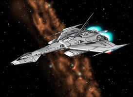 USS Durant  Space Cruiser by Artraccoon