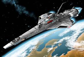 USS Calahan Destroyer by Artraccoon