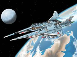 Lavochkin La-71D Kosmo Attack Craft by Artraccoon