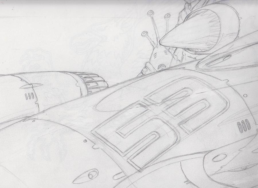 Black Kat RaceQueen art process Part 5 by Artraccoon