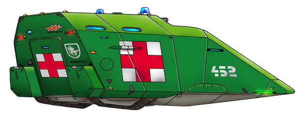M-133m1  Armored Med-Evac by Artraccoon