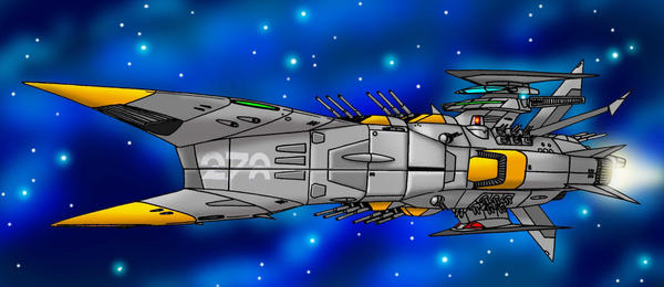 Phoenix Class Spacebattleship by Artraccoon