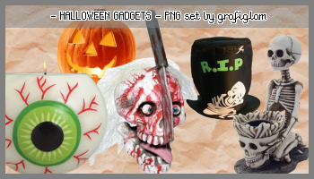 Halloween PNG-tubes by grafiglam