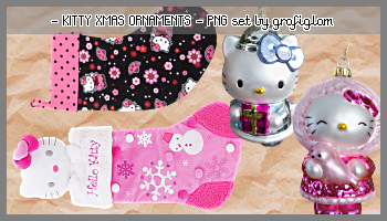Kitty Xmas Ornaments PNG-Tubes by grafiglam