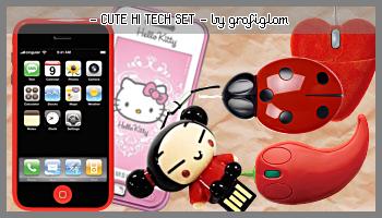 Cute Hi Tech PNG Set by grafiglam