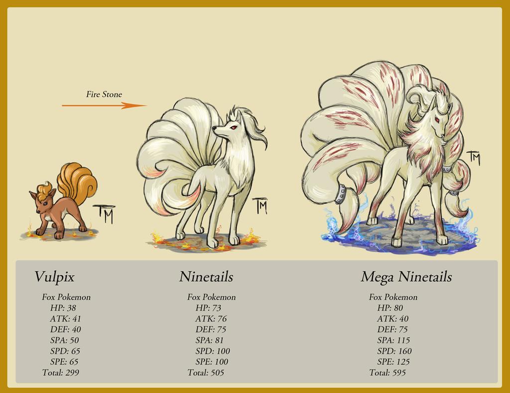 Ninetails Evolution by Felix198 on DeviantArt