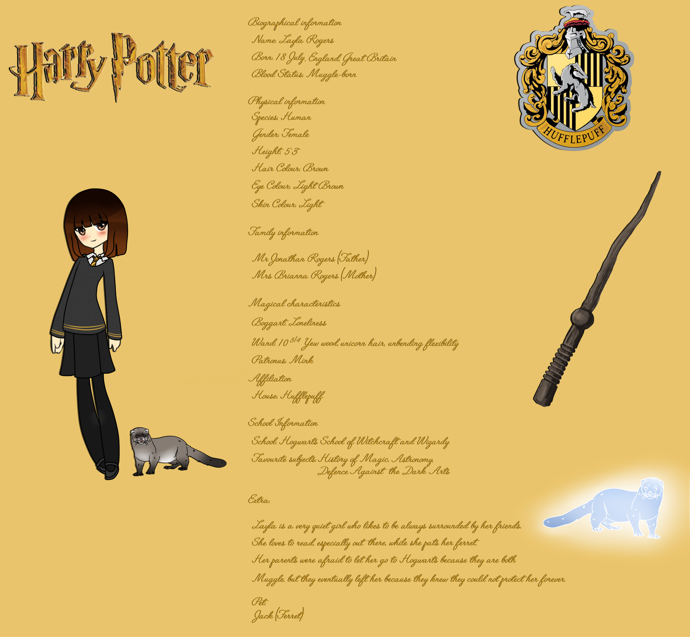 Layla Rogers || Harry Potter Oc by AngelAdopts on DeviantArt