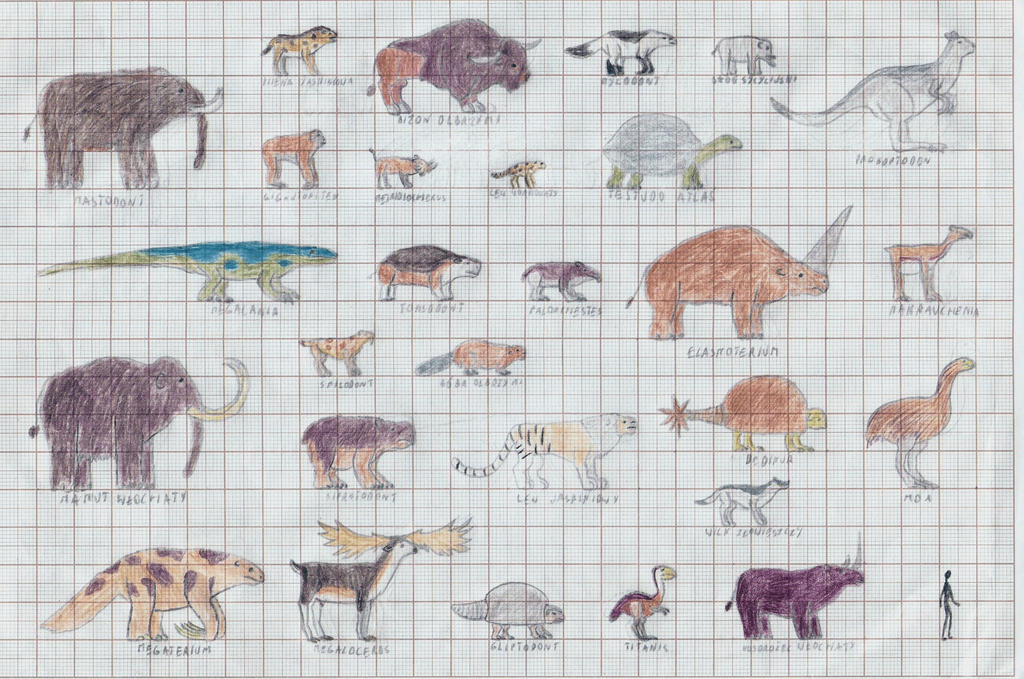 Ice Age bestiary part1 by TomChaney on DeviantArt