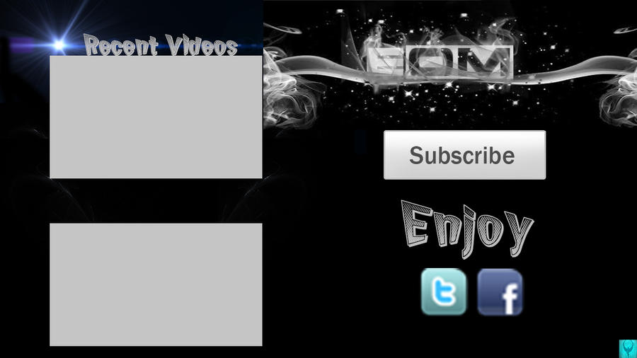 Outro template for enomgameplay by obcisio on deviantart for Outro template download