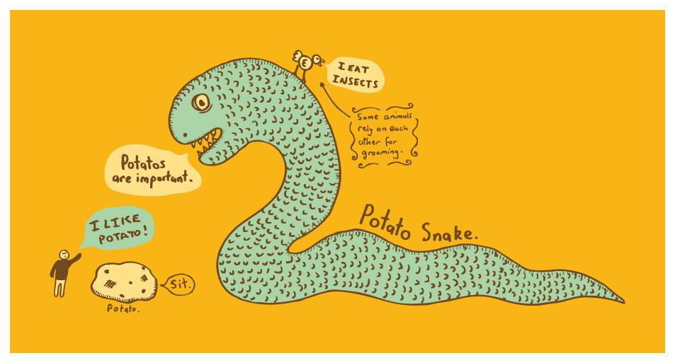 Potato Snake by dugebag