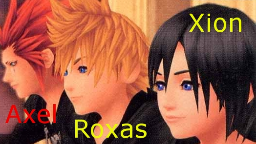 Axel, Roxas and Xion by XxRinoa-HeartillyxX
