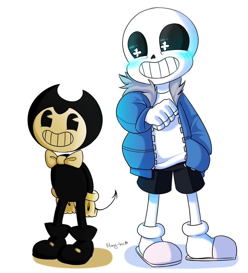 Bendy And Sans By May-ku On DeviantArt
