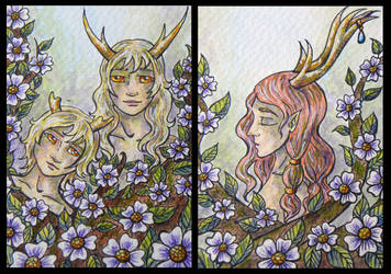 ATCs: More Forest Creatures by Athalour
