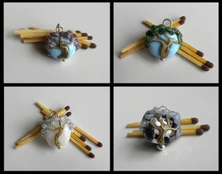 Four Miniature Trees by Athalour
