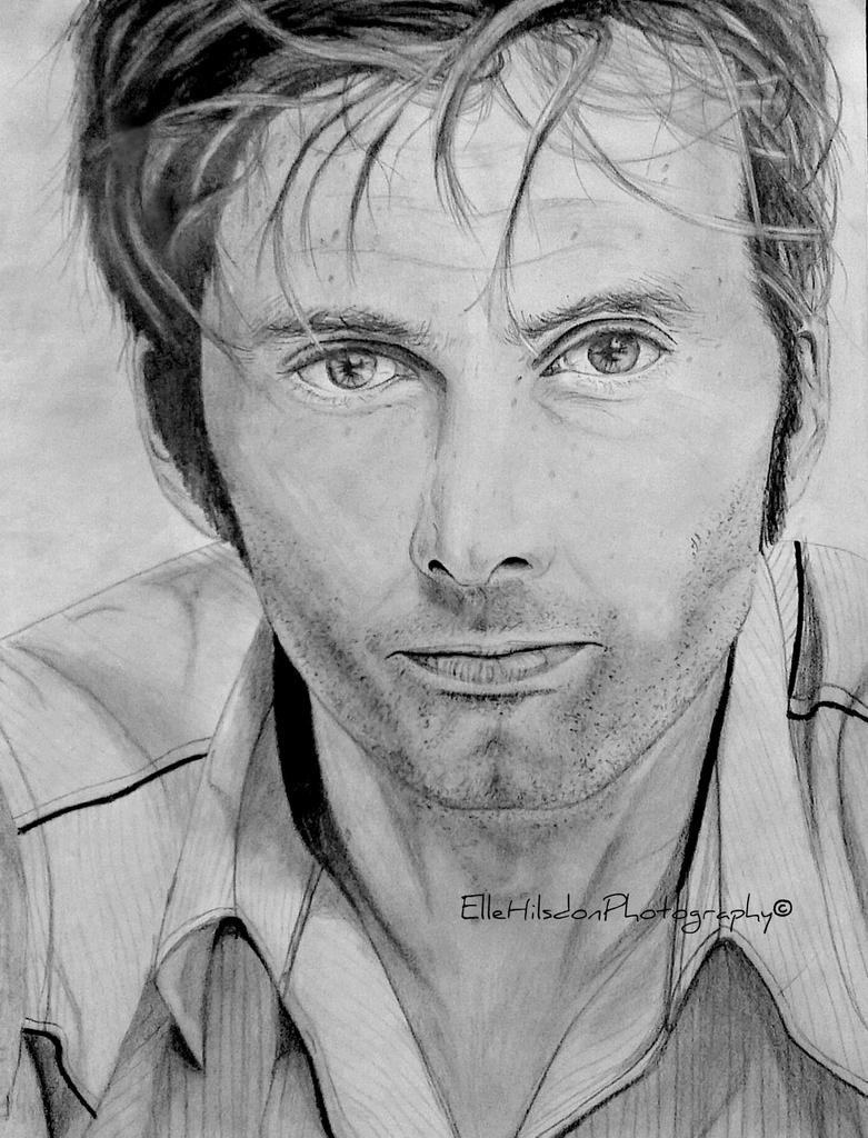 David Tennant drawing. by EHilsdonPhotography