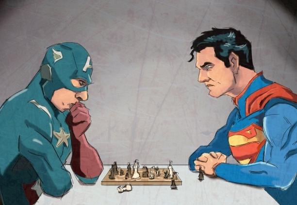 Superman vs Captain America by samuraiminister