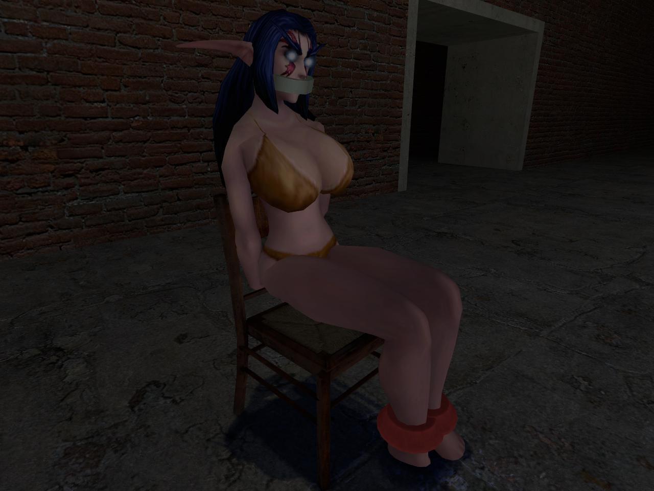 Troll and girl bondage sex image