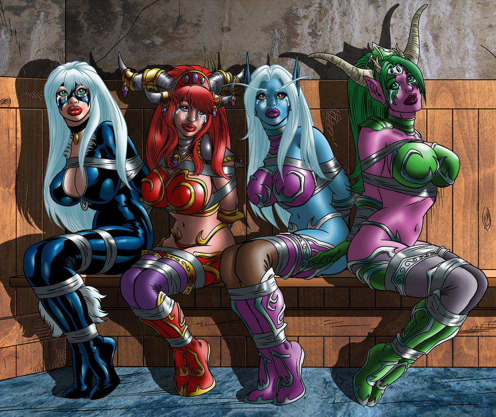 Commission - My Favorite Gals (No gag) by gagem