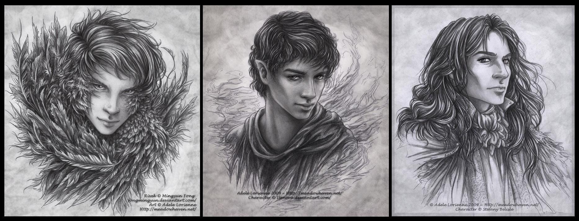 Pencil Commission Portraits by Saimain