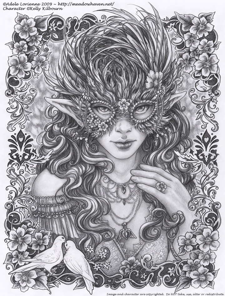 Masquerade: Wild Rose by Saimain