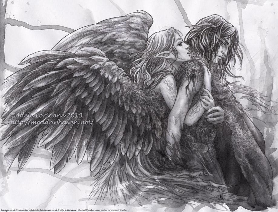 """""""ангелы  """" картинки, рисунки карандашом в гостевые для одноклассников, в контакт, в мой мир майл ру."""