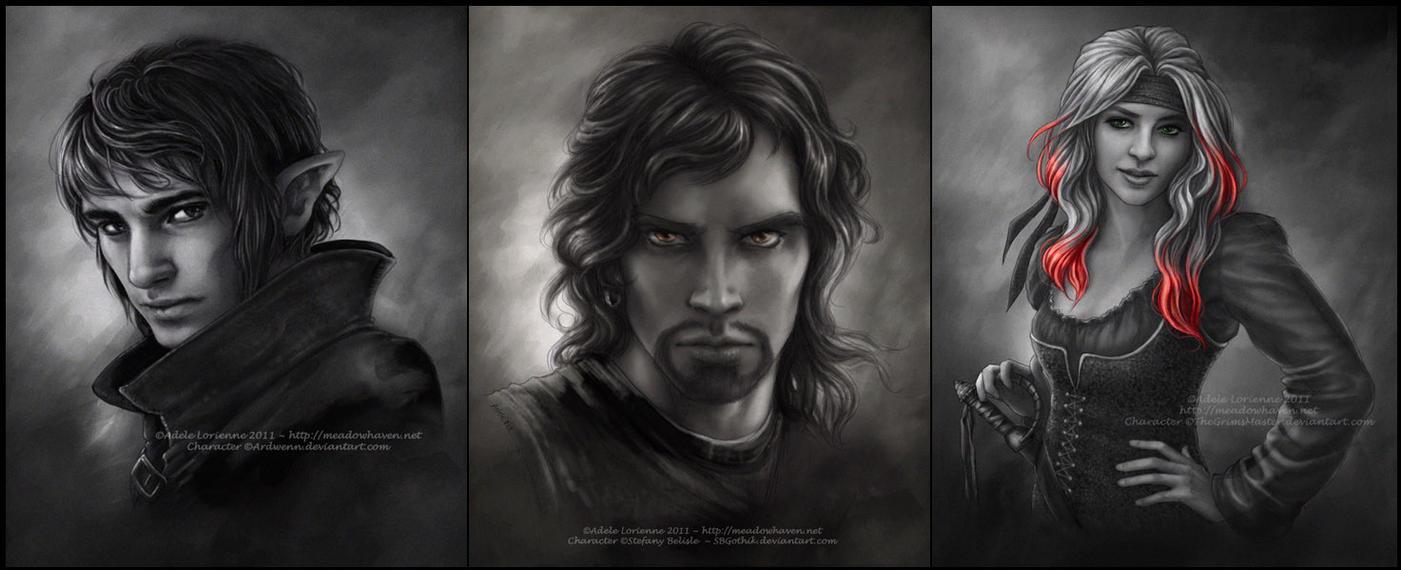 Commission Portraits -Set 7 by Saimain