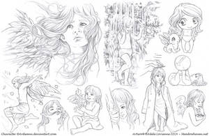 Elerus Sketchpage Commission 19-20 by Saimain