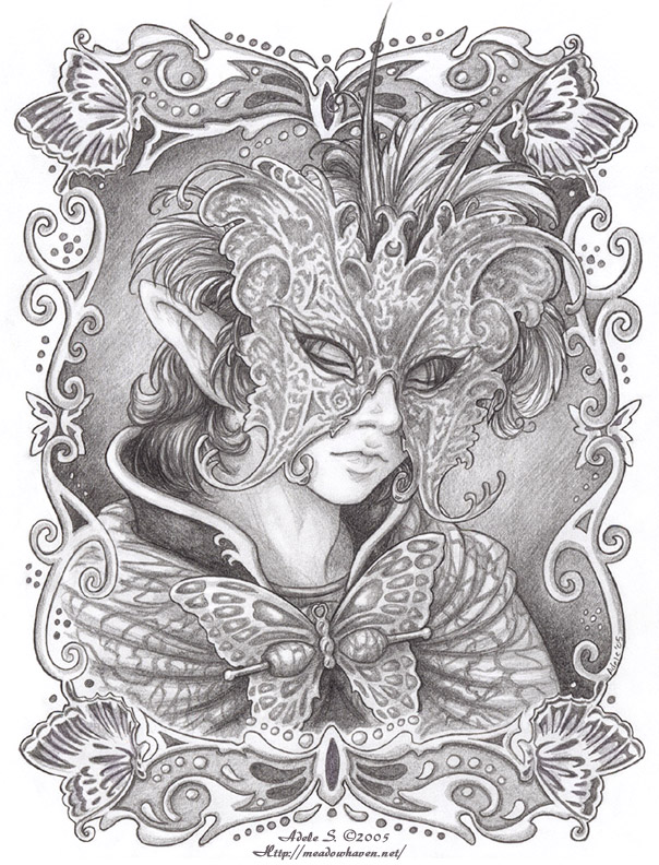 Masquerade Winged Grace By Saimain