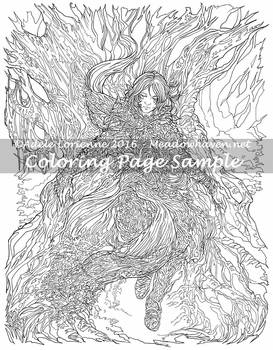 Art of Meadowhaven Coloring Page: First Songs