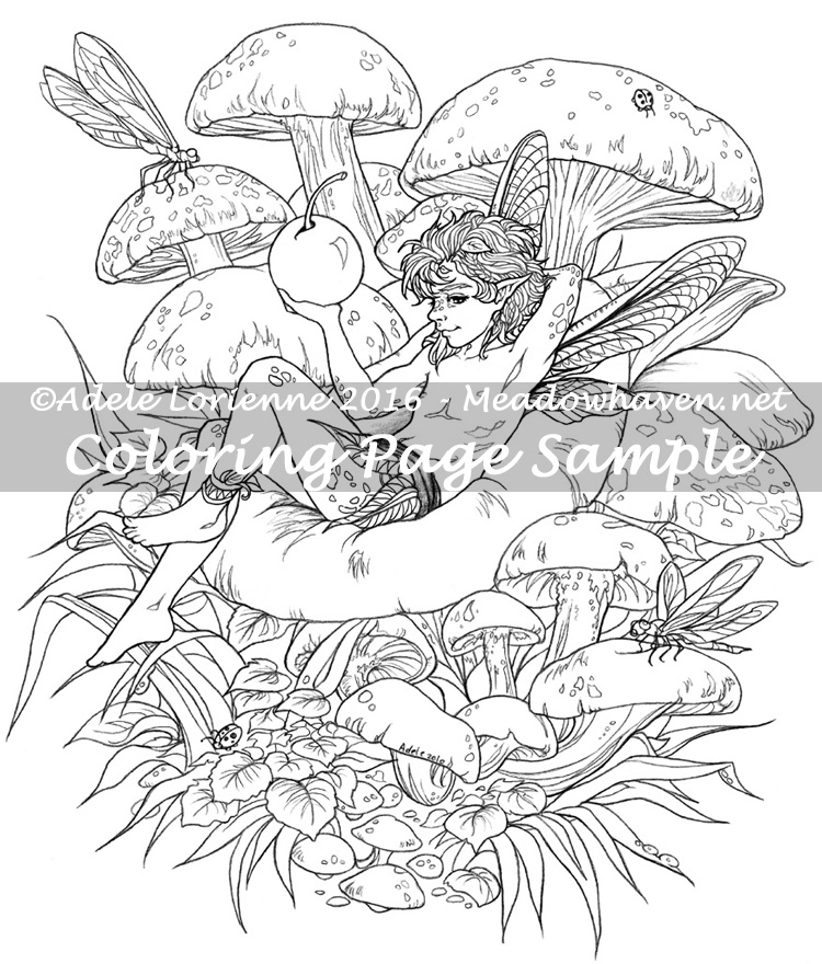 fantasy mushroom coloring pages - photo#7
