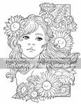 Art of Meadowhaven Coloring Page: Sunflowers