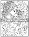 Art of Meadowhaven Coloring Page: A Mother's Love